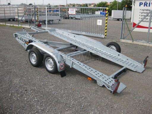 Dvouosý brzděný přívěs k přepravě automobilů PT 2,5T** č.24