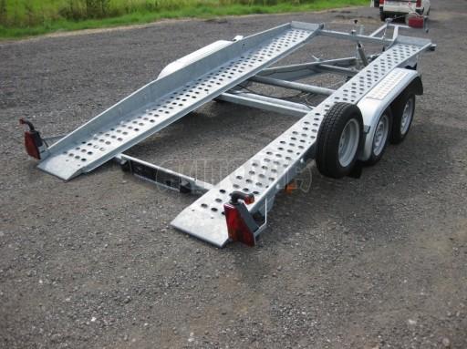 Dvouosý brzděný přívěs k přepravě automobilů PT 2,5T** č.27