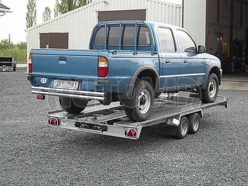 Dvouosý brzděný přívěs k přepravě automobilů KAR 09A č.11