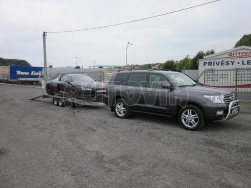 Dvouosý brzděný přívěs k přepravě automobilů KAR 09A č.34