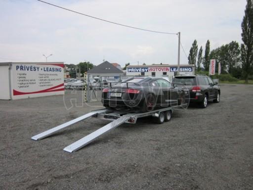 Dvouosý brzděný přívěs k přepravě automobilů KAR 09A č.38