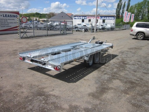 Dvouosý brzděný přívěs k přepravě automobilů KAR 09A č.53