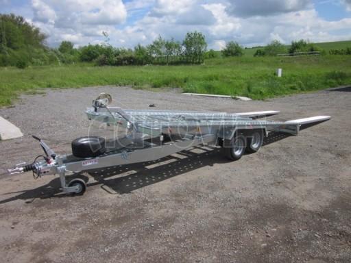 Dvouosý brzděný přívěs k přepravě automobilů KAR 09A č.57