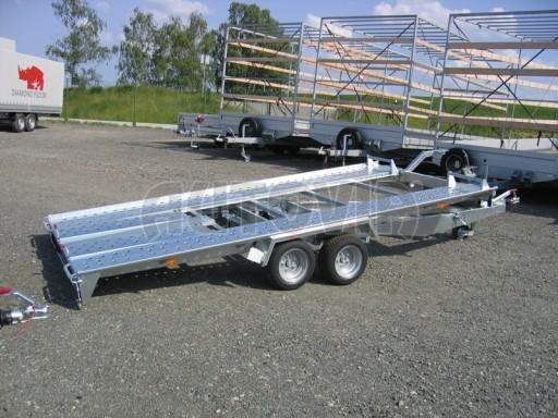 Dvouosý brzděný přívěs k přepravě automobilů KAR 09A č.63