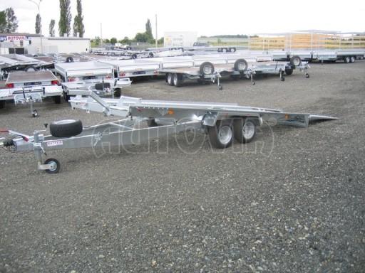 Dvouosý brzděný přívěs k přepravě automobilů KAR 09A č.65