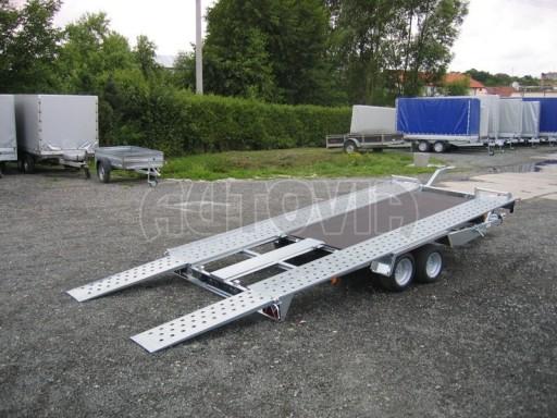 Dvouosý brzděný přívěs k přepravě automobilů KAR 09A č.76
