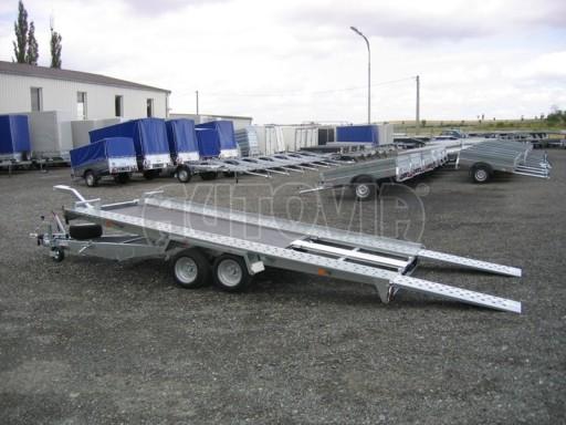 Dvouosý brzděný přívěs k přepravě automobilů KAR 09A č.77