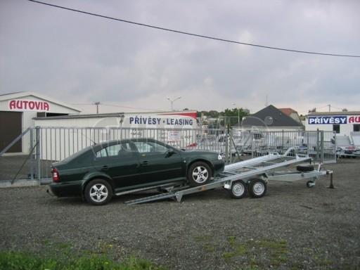Dvouosý brzděný přívěs k přepravě automobilů KAR 09A č.84