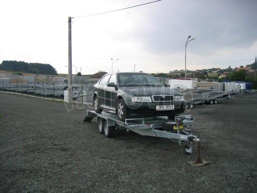 Dvouosý brzděný přívěs k přepravě automobilů KAR 09A č.89