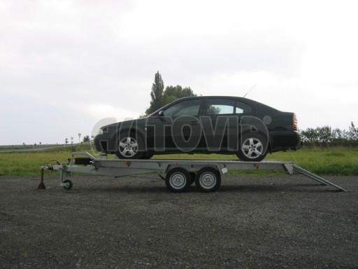 Dvouosý brzděný přívěs k přepravě automobilů KAR 09A č.97