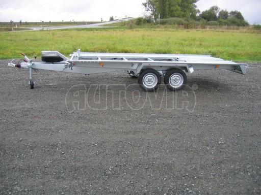 Dvouosý brzděný přívěs k přepravě automobilů KAR 09A č.100