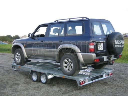 Dvouosý brzděný přívěs k přepravě automobilů KAR 09A č.107