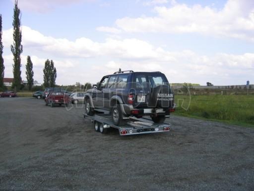 Dvouosý brzděný přívěs k přepravě automobilů KAR 09A č.108