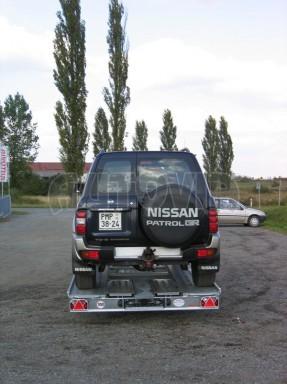 Dvouosý brzděný přívěs k přepravě automobilů KAR 09A č.109