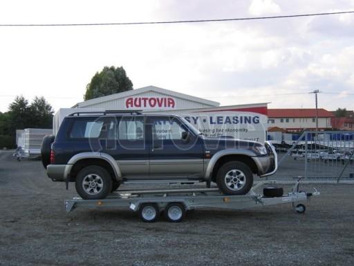 Dvouosý brzděný přívěs k přepravě automobilů KAR 09A č.113