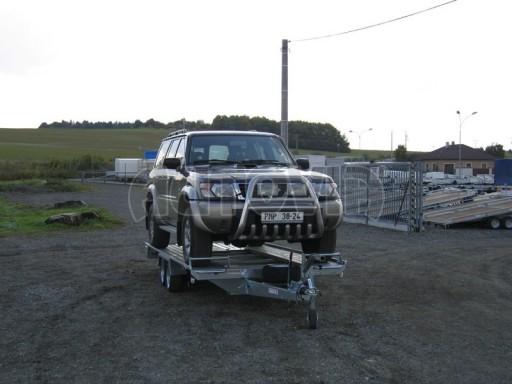 Dvouosý brzděný přívěs k přepravě automobilů KAR 09A č.115