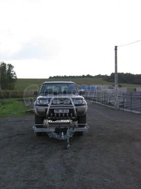Dvouosý brzděný přívěs k přepravě automobilů KAR 09A č.116