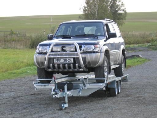 Dvouosý brzděný přívěs k přepravě automobilů KAR 09A č.117