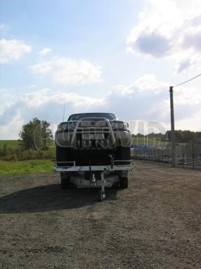 Dvouosý brzděný přívěs k přepravě automobilů KAR 09A č.127