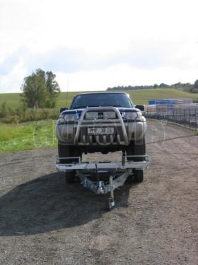 Dvouosý brzděný přívěs k přepravě automobilů KAR 09A č.128