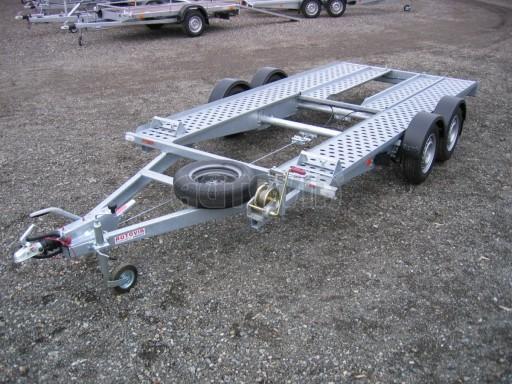 Dvouosý brzděný přívěs k přepravě automobilů PA 2,0B č.1