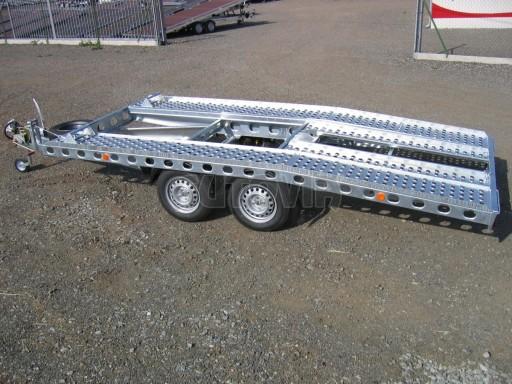 Dvouosý brzděný přívěs k přepravě automobilů PAV 2,0 č.12