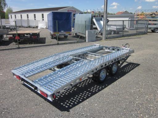 Dvouosý brzděný přívěs k přepravě automobilů PAV 2,0 č.1