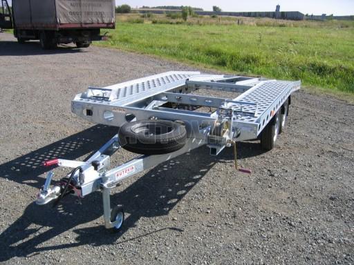 Dvouosý brzděný přívěs k přepravě automobilů PAV 2,0 č.28