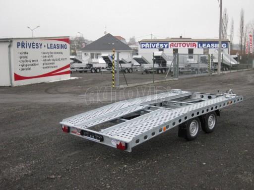 Dvouosý brzděný přívěs k přepravě automobilů PAV 2,0 č.34