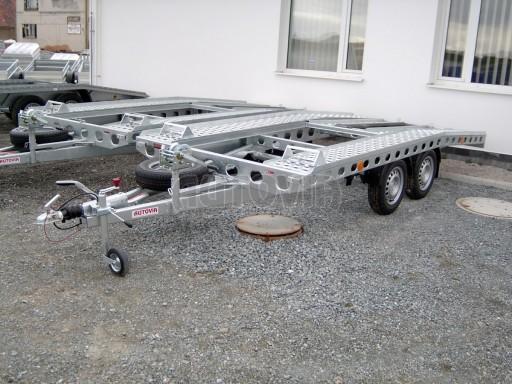 Dvouosý brzděný přívěs k přepravě automobilů PAV 2,0 č.36