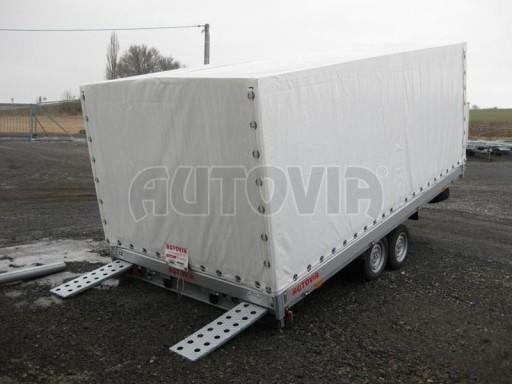Dvouosý brzděný přívěs s hydraulicky sklopnou plochou AD speciál valník 2,7t  4,15/1,88/0,35** č.4