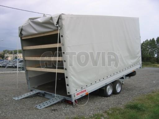 Dvouosý brzděný přívěs s hydraulicky sklopnou plochou AD speciál valník 2,7t  4,15/1,88/0,35** č.7