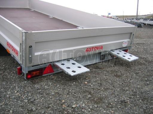 Dvouosý brzděný přívěs s hydraulicky sklopnou plochou AD speciál valník 2,7t  4,15/1,88/0,35** č.8