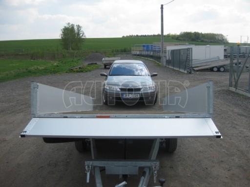 Dvouosý brzděný přívěs s hydraulicky sklopnou plochou AD speciál valník 2,7t  4,15/1,88/0,35** č.22