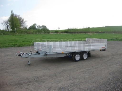 Dvouosý brzděný přívěs s hydraulicky sklopnou plochou AD speciál valník 2,7t  4,15/1,88/0,35** č.26