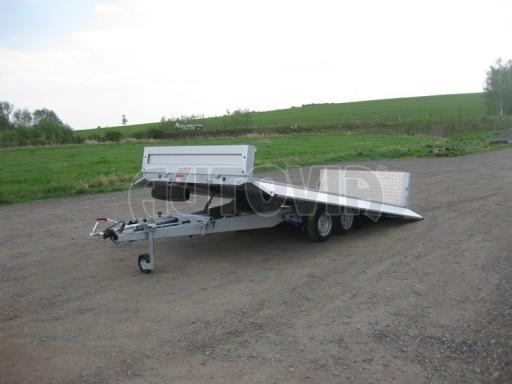 Dvouosý brzděný přívěs s hydraulicky sklopnou plochou AD speciál valník 2,7t  4,15/1,88/0,35** č.33