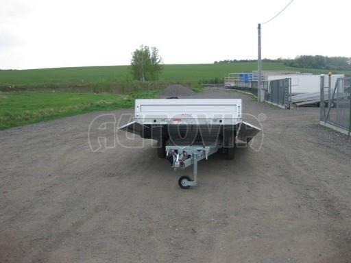 Dvouosý brzděný přívěs s hydraulicky sklopnou plochou AD speciál valník 2,7t  4,15/1,88/0,35** č.34