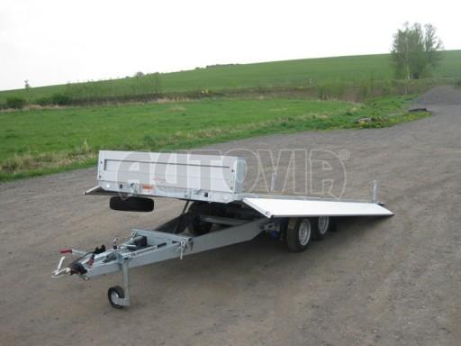 Dvouosý brzděný přívěs s hydraulicky sklopnou plochou AD speciál valník 2,7t  4,15/1,88/0,35** č.42
