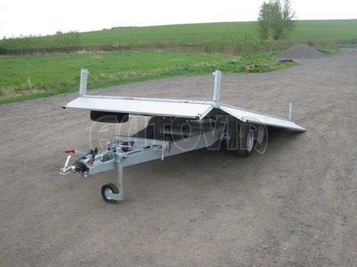 Dvouosý brzděný přívěs s hydraulicky sklopnou plochou AD speciál valník 2,7t  4,15/1,88/0,35** č.43