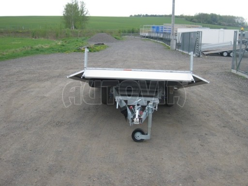 Dvouosý brzděný přívěs s hydraulicky sklopnou plochou AD speciál valník 2,7t  4,15/1,88/0,35** č.44