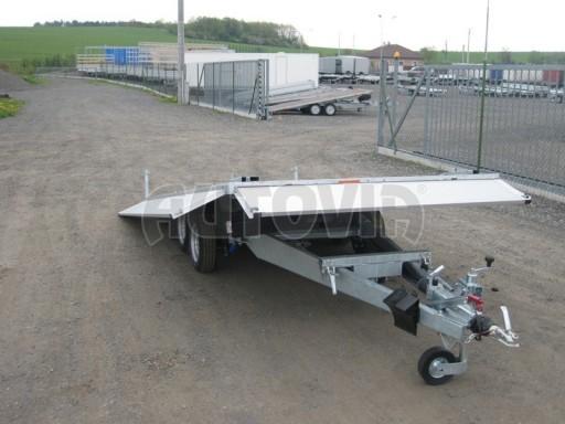 Dvouosý brzděný přívěs s hydraulicky sklopnou plochou AD speciál valník 2,7t  4,15/1,88/0,35** č.49