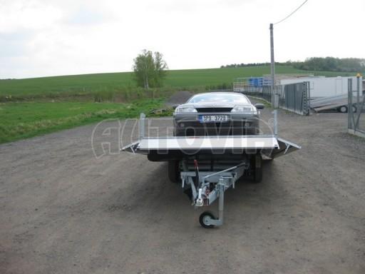 Dvouosý brzděný přívěs s hydraulicky sklopnou plochou AD speciál valník 2,7t  4,15/1,88/0,35** č.53