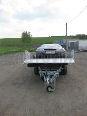 Dvouosý brzděný přívěs s hydraulicky sklopnou plochou AD speciál valník 2,7t  4,15/1,88/0,35** č.57