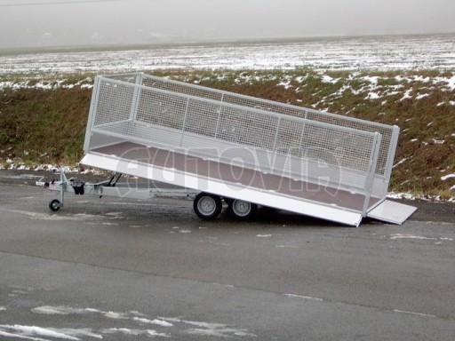 Dvouosý brzděný přívěs s hydraulicky sklopnou plochou AD speciál valník 2,7t  4,15/1,88/0,35** č.90