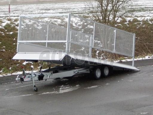 Dvouosý brzděný přívěs s hydraulicky sklopnou plochou AD speciál valník 2,7t  4,15/1,88/0,35** č.92