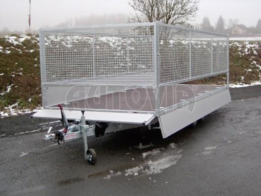 Dvouosý brzděný přívěs s hydraulicky sklopnou plochou AD speciál valník 2,7t  4,15/1,88/0,35** č.93
