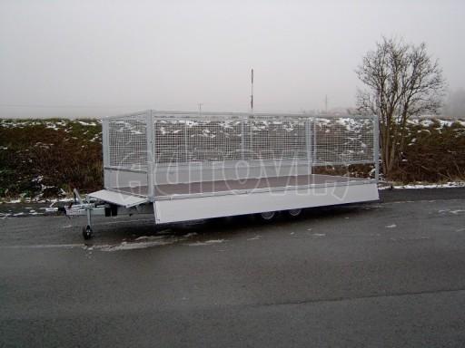 Dvouosý brzděný přívěs s hydraulicky sklopnou plochou AD speciál valník 2,7t  4,15/1,88/0,35** č.94