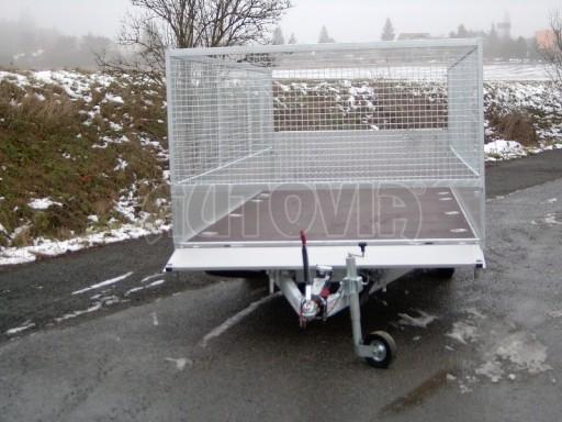 Dvouosý brzděný přívěs s hydraulicky sklopnou plochou AD speciál valník 2,7t  4,15/1,88/0,35** č.98