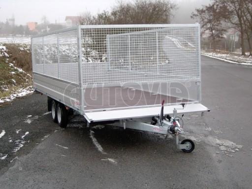 Dvouosý brzděný přívěs s hydraulicky sklopnou plochou AD speciál valník 2,7t  4,15/1,88/0,35** č.99