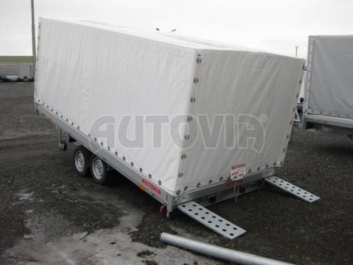 Dvouosý brzděný přívěs s hydraulicky sklopnou plochou AD speciál valník 2,7t  4,15/1,88/0,35** č.104